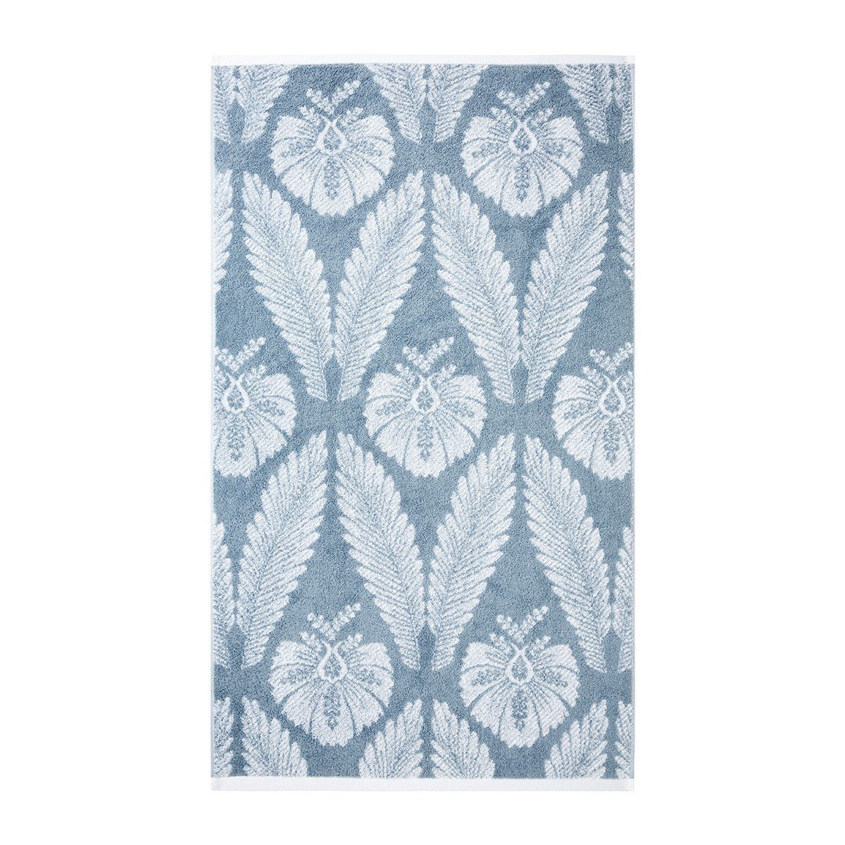 Yves Delorme Palmes Bath Towel Collection | Fig Linens, Blue bath, guest towel - front