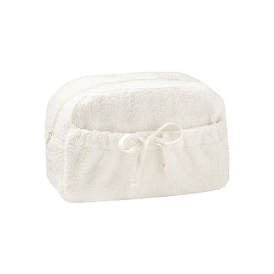 Etoile Nacre Cosmetic Bag by Yves Delorme | Fig Linens - White powder bag, tote
