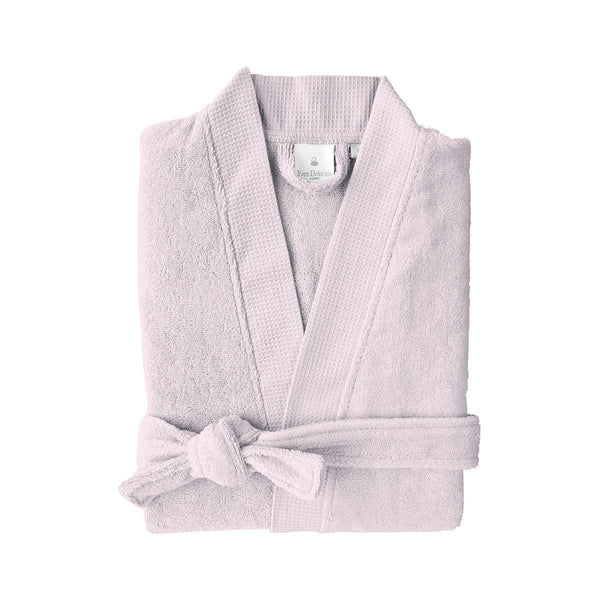Astrée Kimono Nuage Bathrobe by Yves Delorme | Fig Linens - Light purple robe with pockets and belt