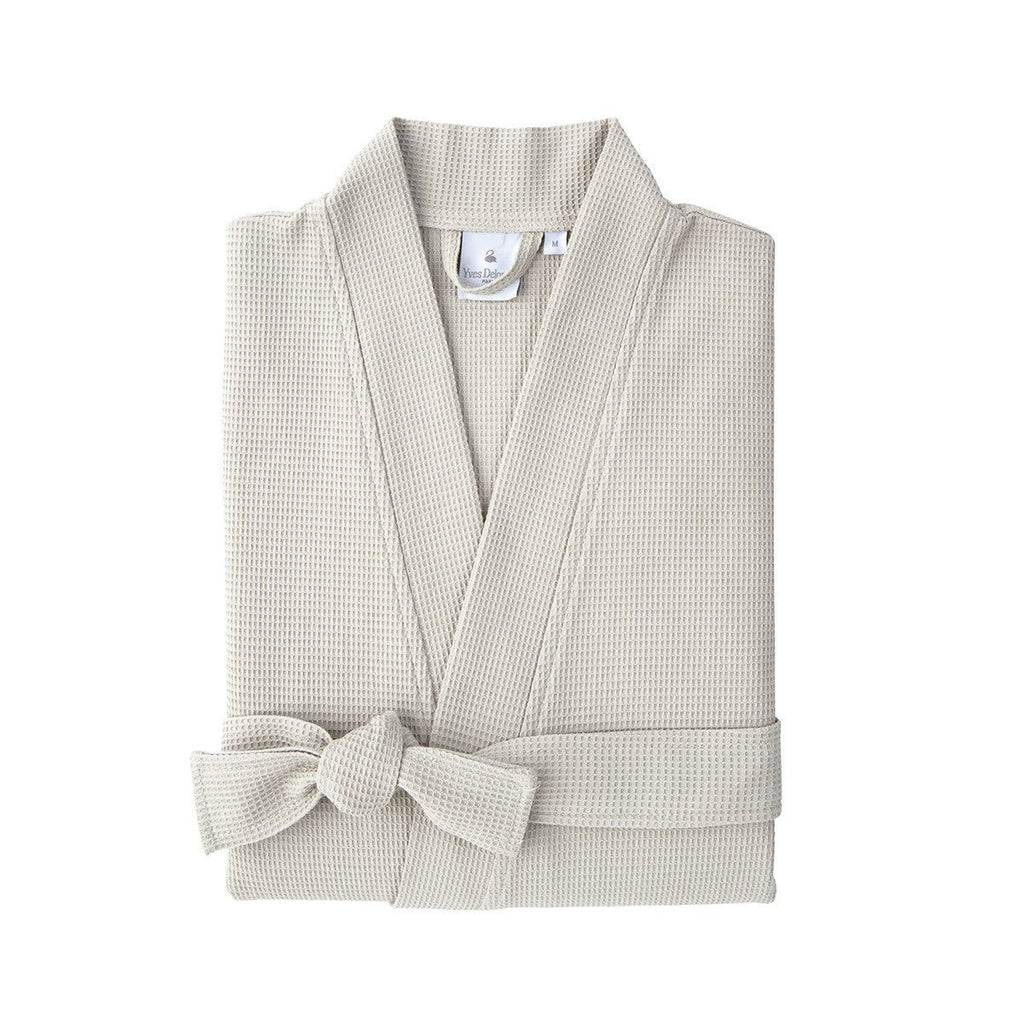Astreena Pierre Kimono Bathrobe by Yves Delorme | Fig Linens - Tan robe, unisex