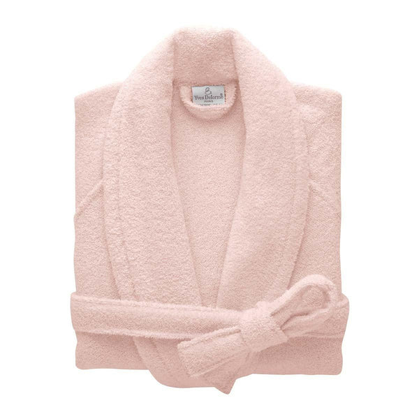 Etoile Blush Pink Bathrobe by Yves Delorme | Fig Linens - pink robe with belt and pockets