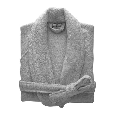 Etoile Platine Gray Bathrobe by Yves Delorme | Fig Linens
