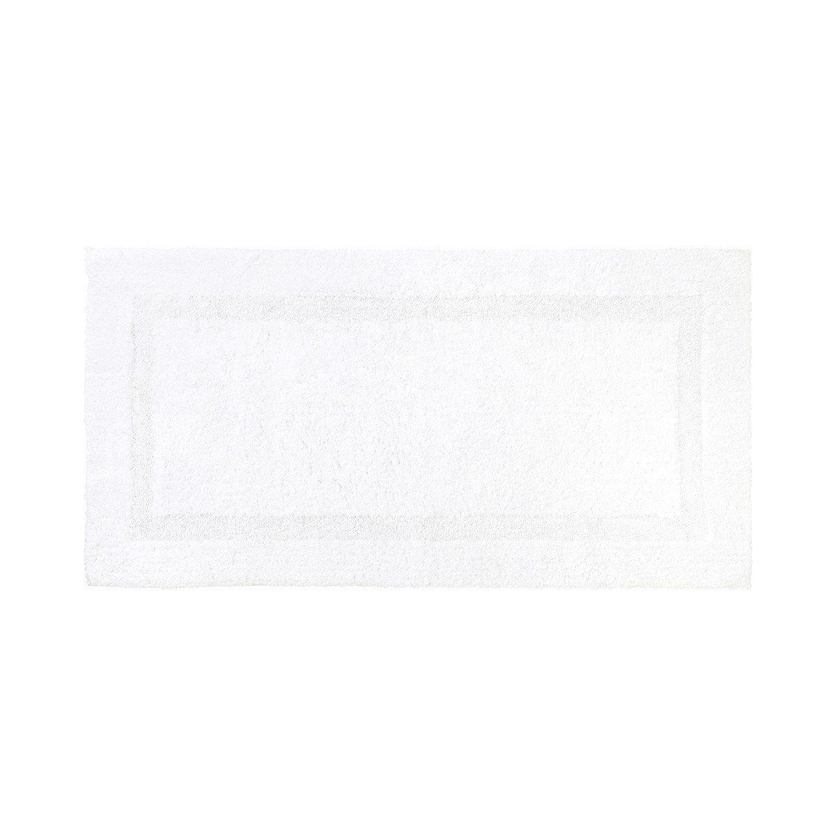 Aquilon Blanc Reversible Bath Rug by Yves Delorme | Fig Linens - White, large bath mat, rug