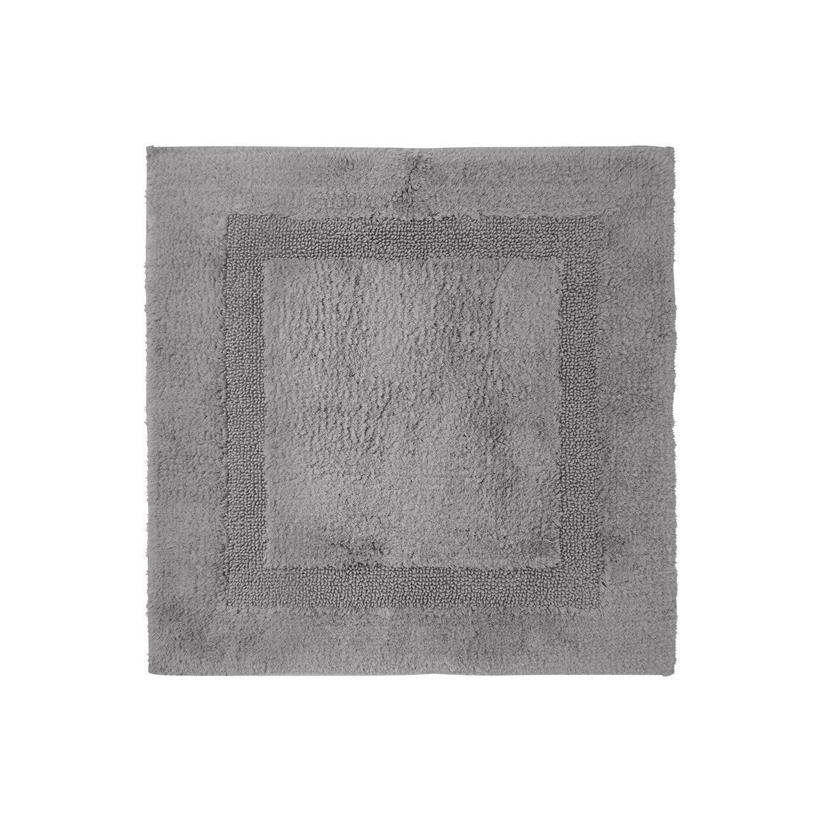 Aquilon Platine Reversible Bath Rug by Yves Delorme | Fig Linens - square, gray bath mat, rug