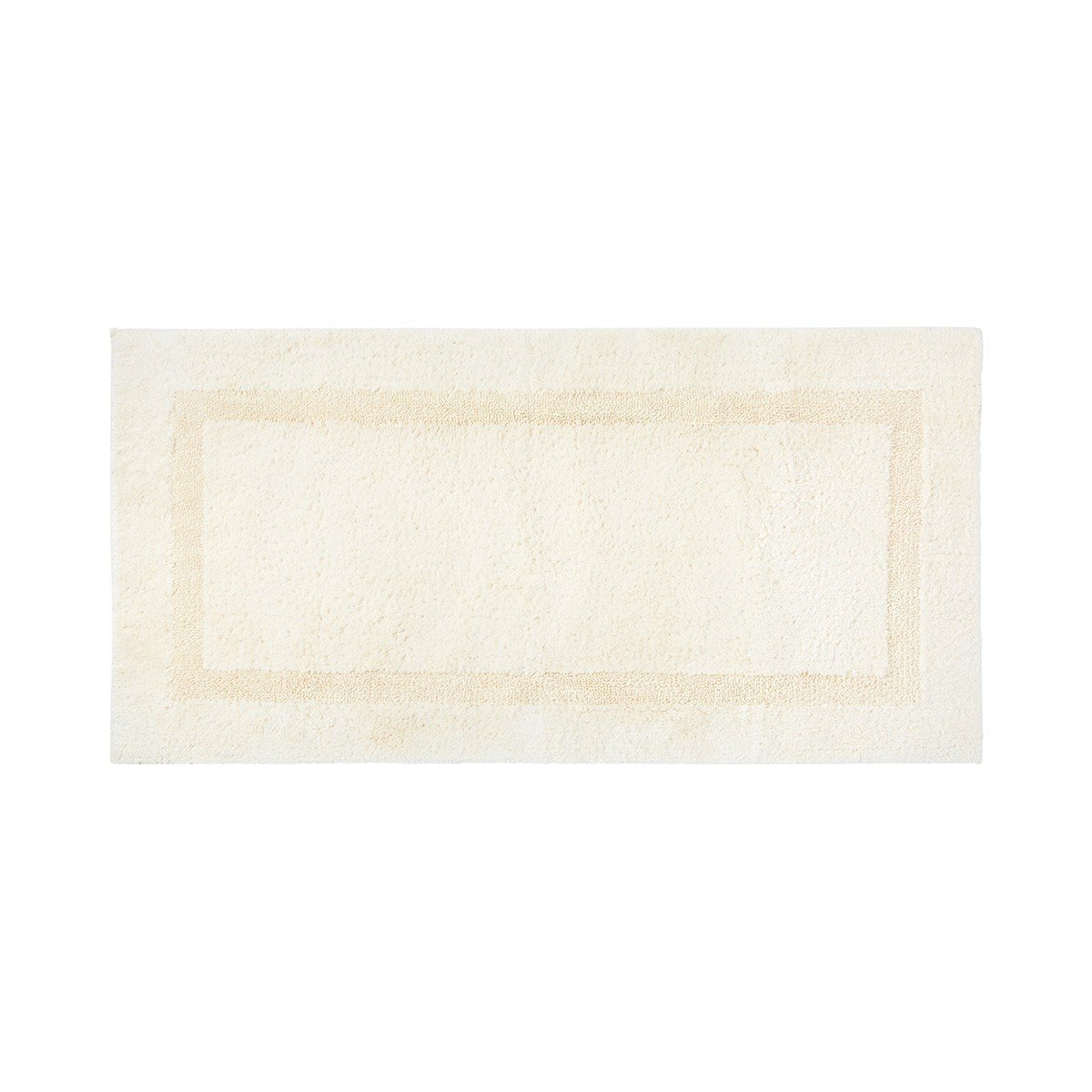 Aquilon Nacre Reversible Bath Rug by Yves Delorme | Fig Linens - Rectangle, ivory, bath mat, rug