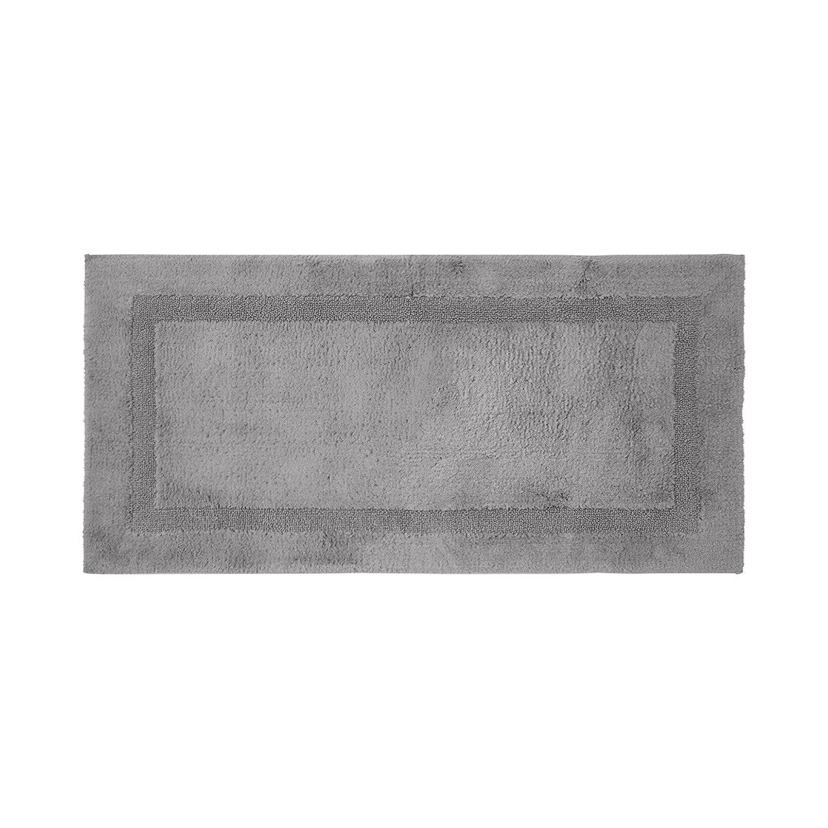 Aquilon Platine Reversible Bath Rug by Yves Delorme | Fig Linens - rectangle, gray bath mat, rug
