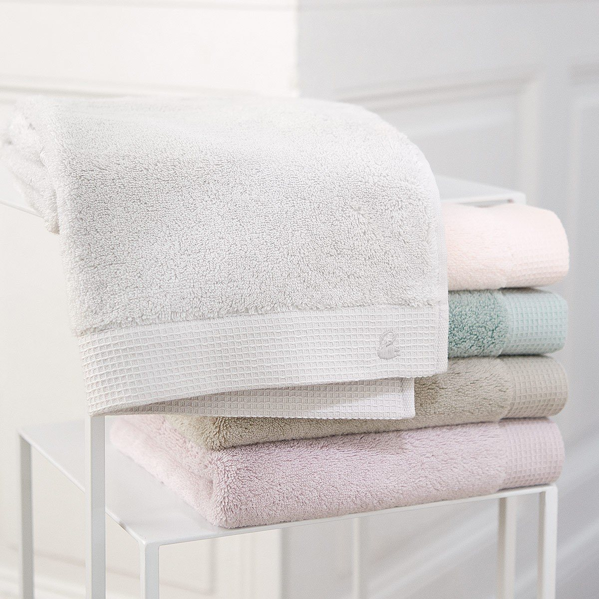 Astree Blush Bath Collection by Yves Delorme | Fig Linens