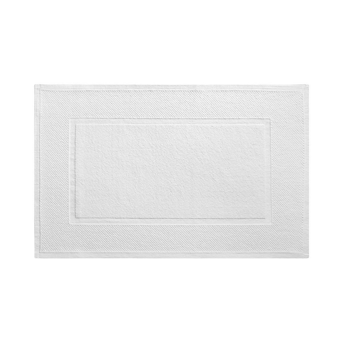 Eden Blanc Bath Mat by Yves Delorme | Fig Linens and Home - White bath mat, rug