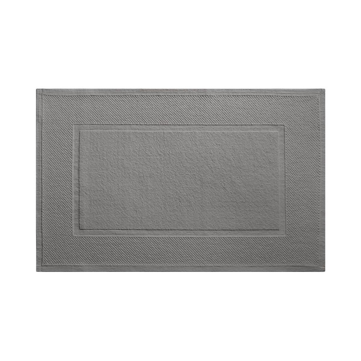 Eden Platine Bath Mat by Yves Delorme | Fig Linens and Home - gray bath mat, rug