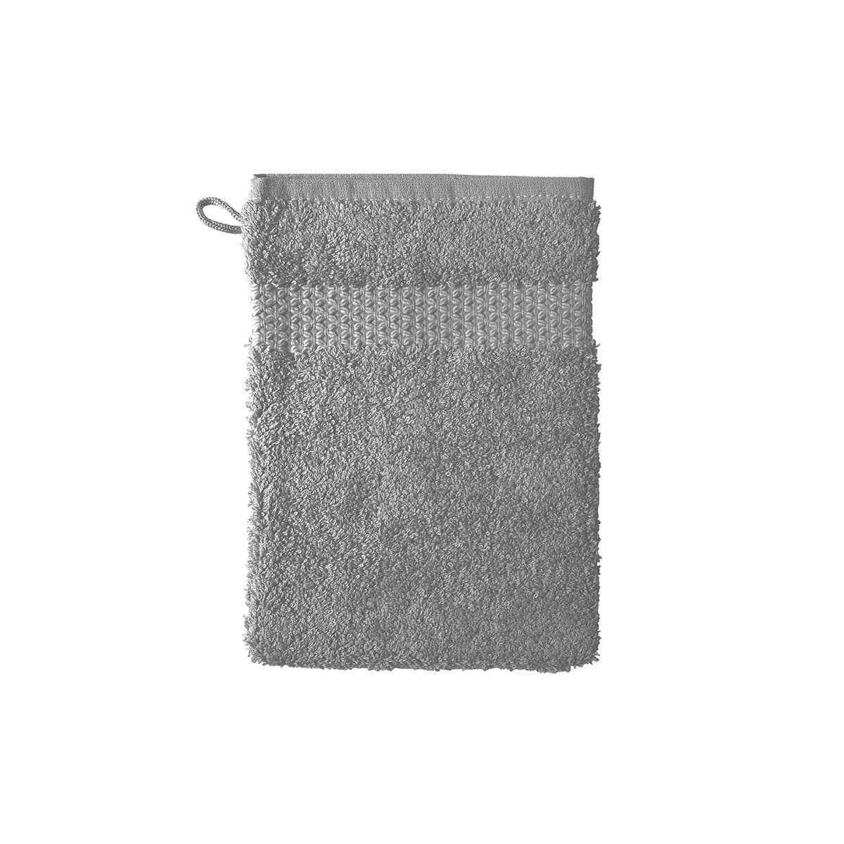 Etoile Platine Bath Collection by Yves Delorme | Fig Linens - Gray bath linen, wash mitt
