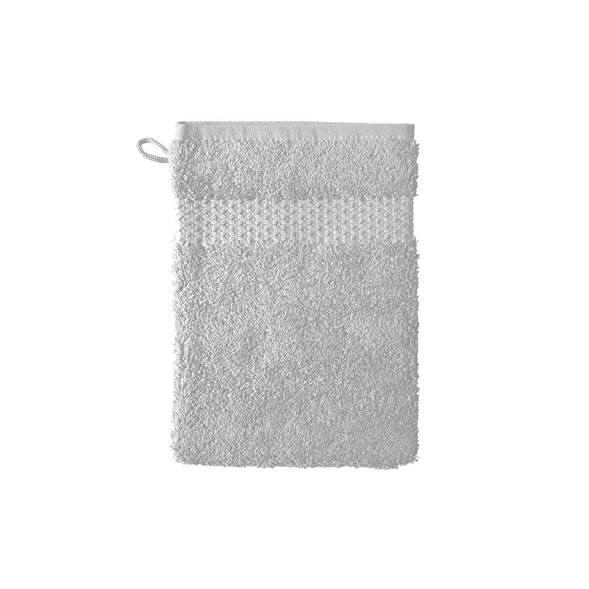Etoile Silver Bath Collection by Yves Delorme | Fig Linens, Light gray bath linen, wash mitt