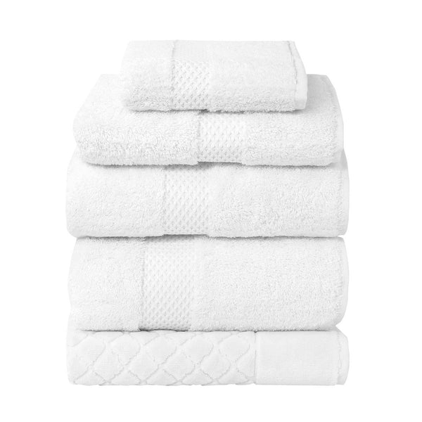 Etoile Blanc Bath Collection by Yves Delorme | Fig Linens - White bath linen, towels
