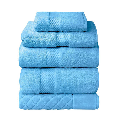 Etoile Cobalt Bath Collection by Yves Delorme | Fig Linens - Blue bath linens, towels