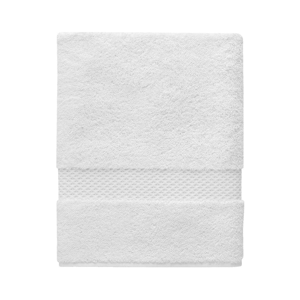 Etoile Blanc Bath Collection by Yves Delorme | Fig Linens - White, bath, guest, hand towel
