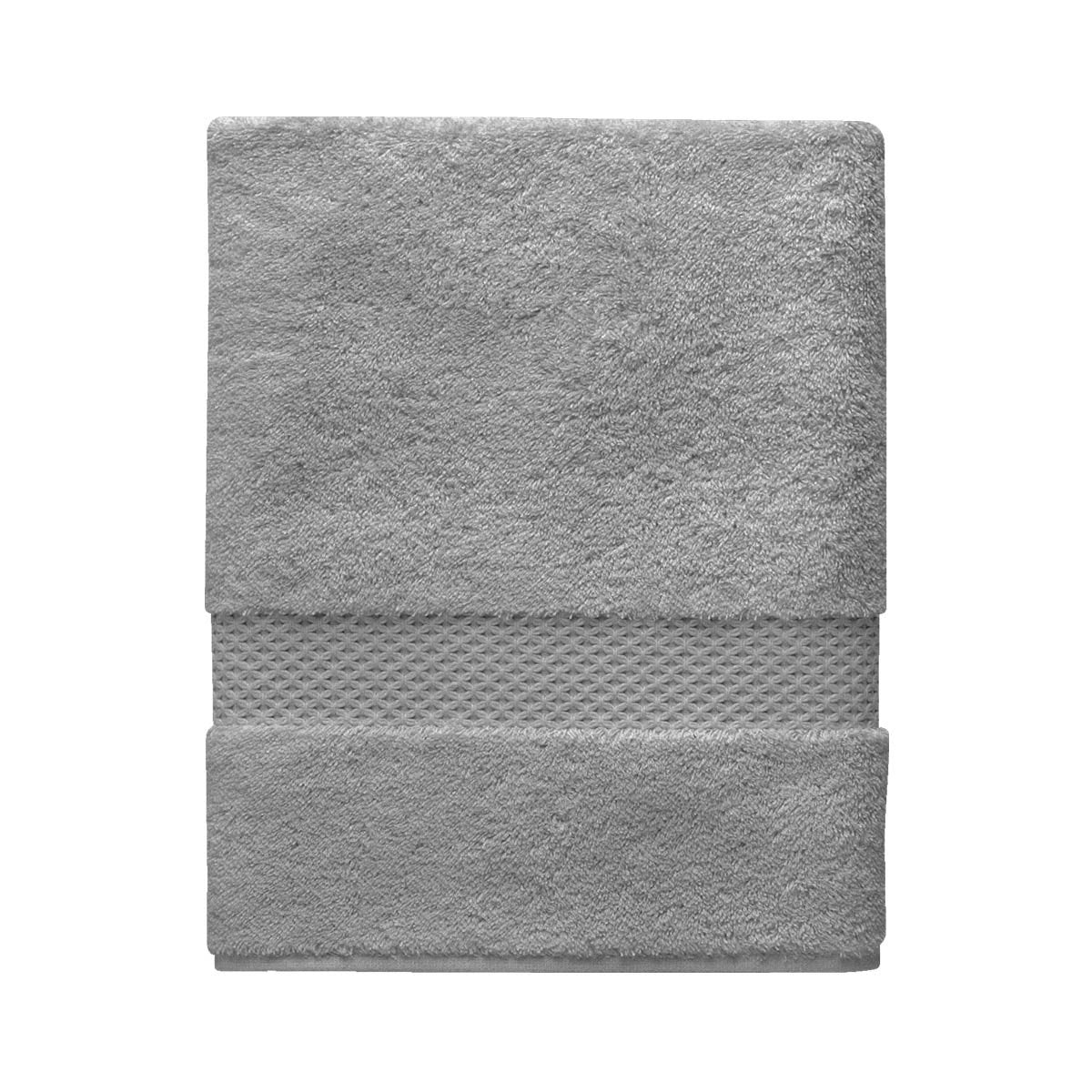 Etoile Platine Bath Collection by Yves Delorme | Fig Linens - Gray bath linen, towel