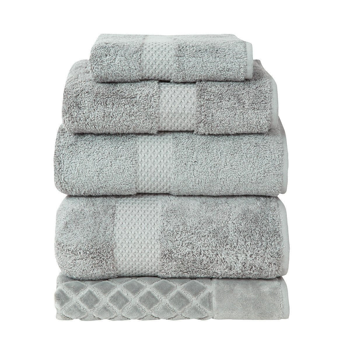 Etoile Platine Bath Collection by Yves Delorme | Fig Linens - Gray bath linen