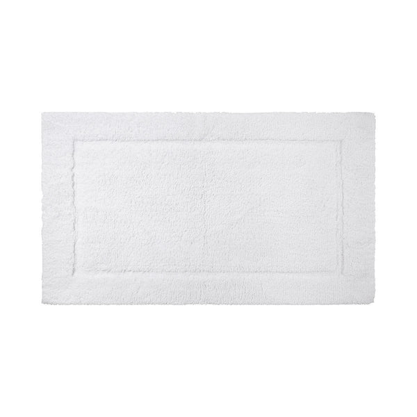Prestige Blanc Bath Rug by Yves Delorme | Fig Linens - White bath rug, mat, non slip, cotton