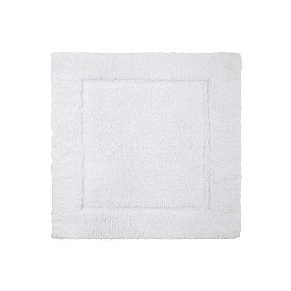 Prestige Blanc Bath Rug by Yves Delorme | Fig Linens - White square bath rug, mat, non slip, cotton