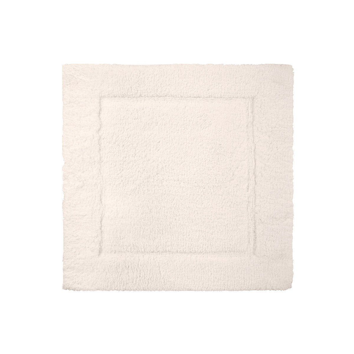 Prestige Nacre Bath Rug by Yves Delorme | Fig Linens and Home - Square, ivory, bath mat, rug, cotton