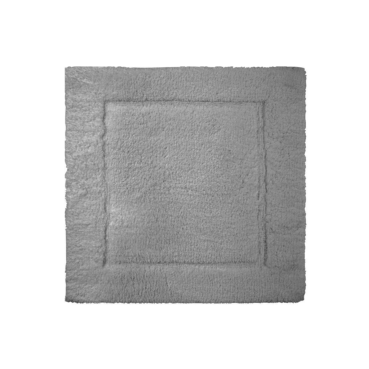 Prestige Platine Bath Rug by Yves Delorme | Fig Linens - Gray, square bath rug, mat, cotton