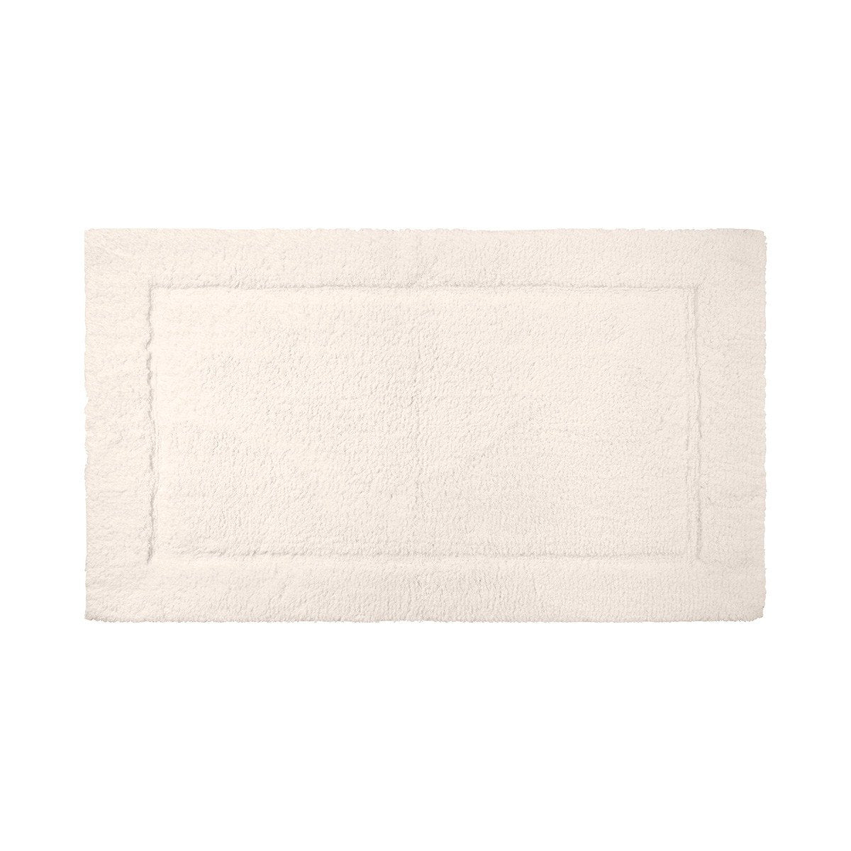 Prestige Nacre Bath Rug by Yves Delorme | Fig Linens and Home - Ivory, cotton, bath mat, rug