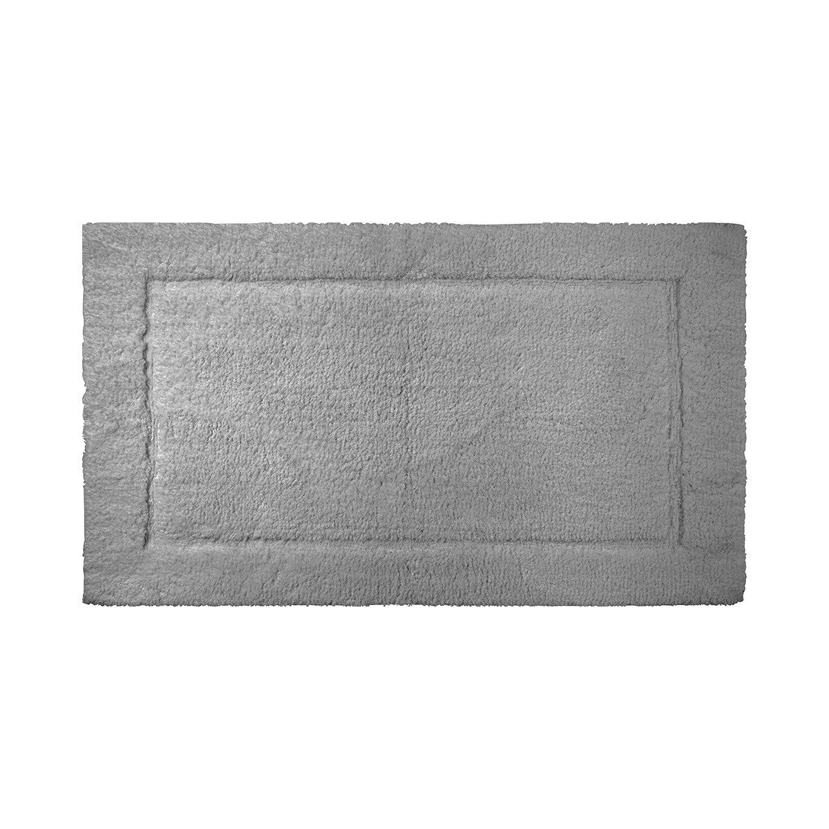 Prestige Platine Bath Rug by Yves Delorme | Fig Linens - Gray, bath mat, rug, cotton