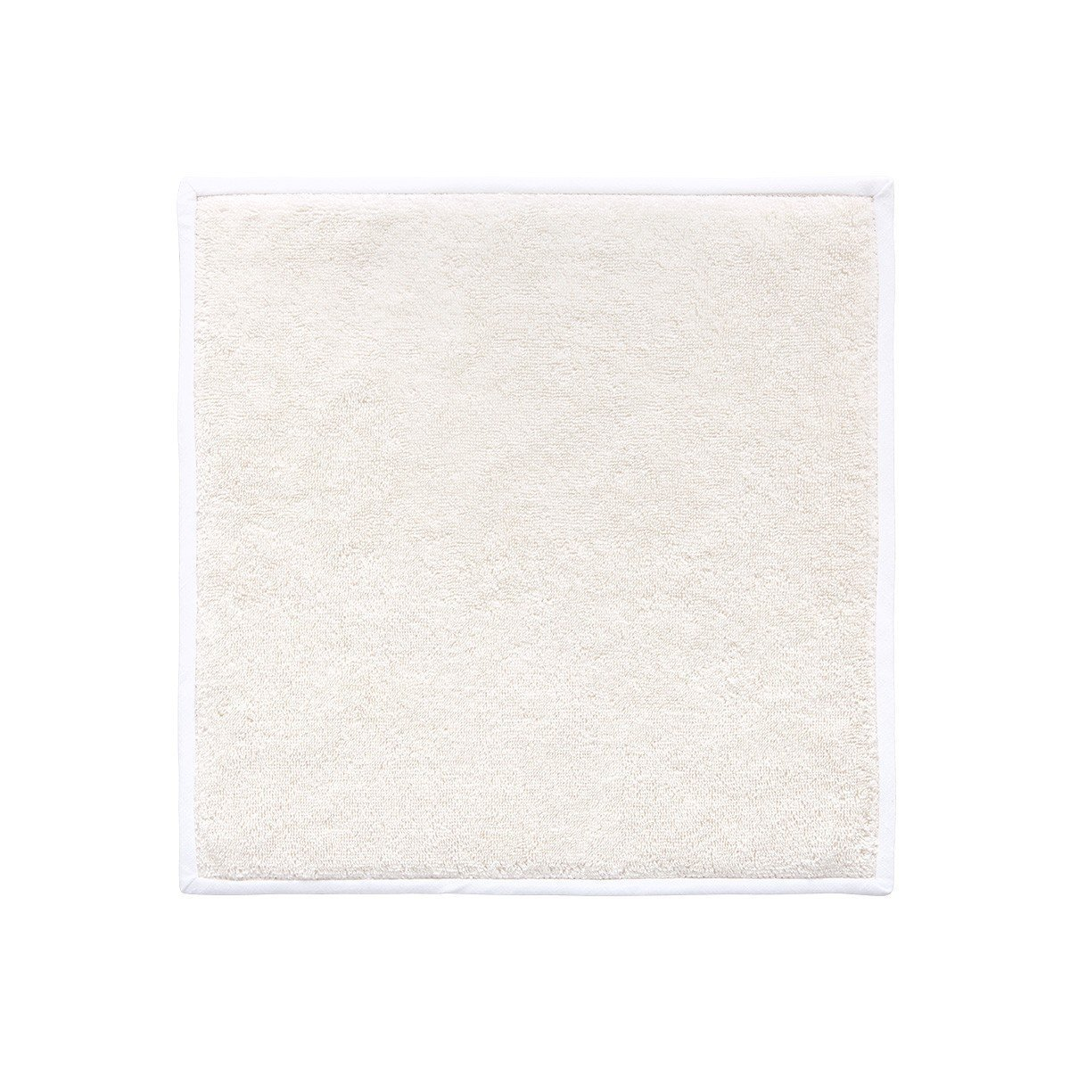 Adagio Perle Bath Collection by Yves Delorme | Fig Linens - Ivory Bath Linen - washcloth