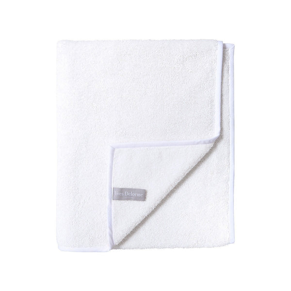 Adagio Blanc Bath Collection by Yves Delorme | Fig Linens and Home - White Bath Linens - Towel