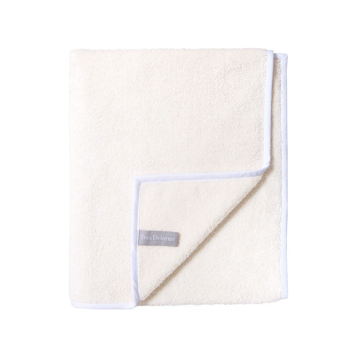 Adagio Perle Bath Collection by Yves Delorme | Fig Linens - Ivory Bath Linen - bath towel