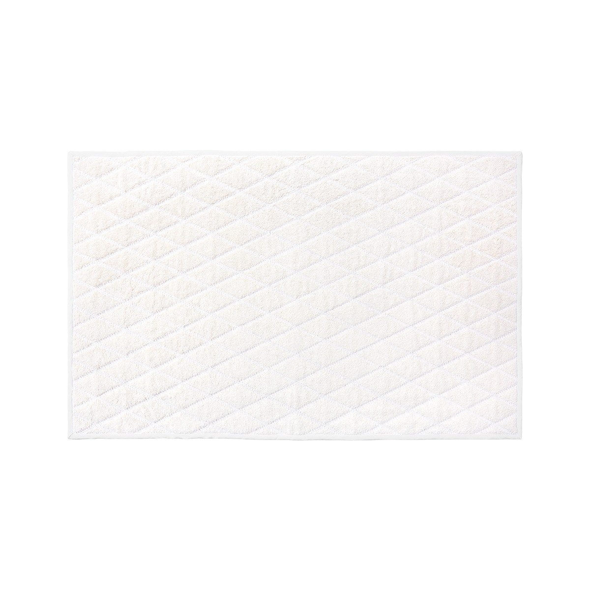 Adagio Perle Bath Collection by Yves Delorme | Fig Linens - Ivory Bath Linen Bathmat