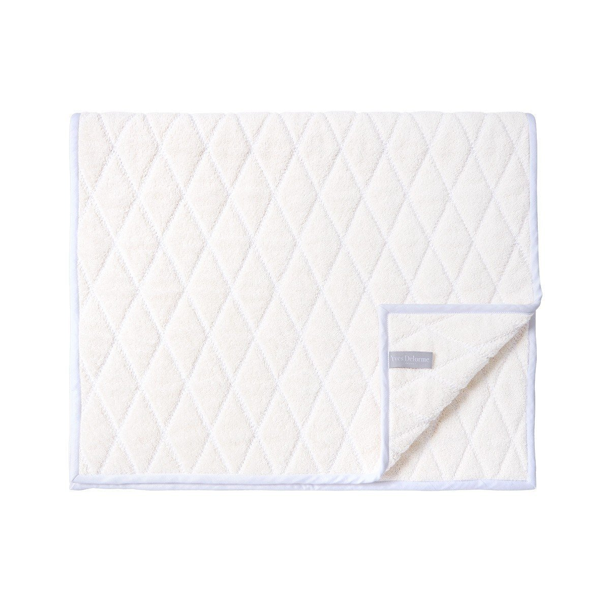 Adagio Perle Bath Collection by Yves Delorme | Fig Linens - Ivory Bath Linen Bath mat