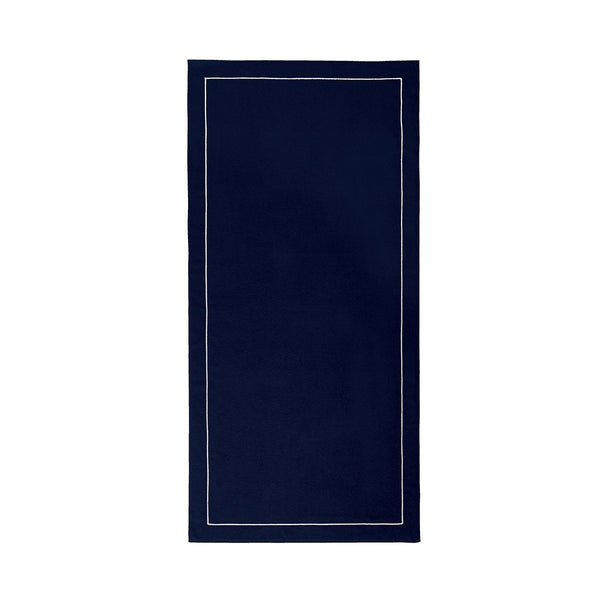 Croisiére Marine Navy Blue Beach Towel by Yves Delorme Fig Linens