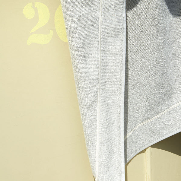 Croisiere Pierre Stone gray Beach Towel by Yves Delorme Fig Linens