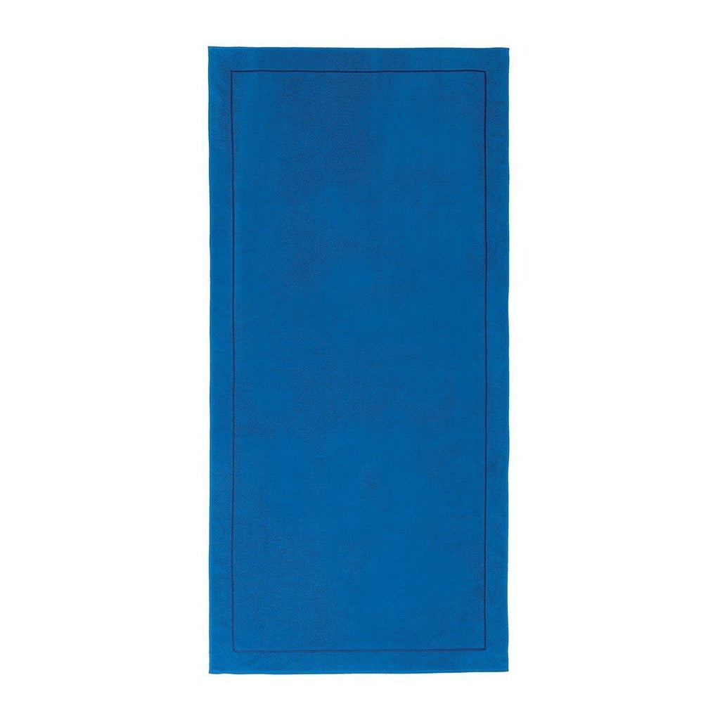 Croisiére Azur Blue Beach Towel by Yves Delorme Fig Linens