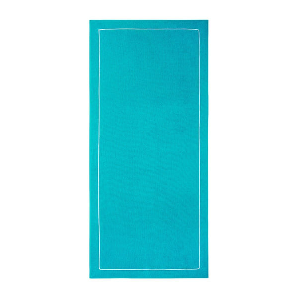 Croisiére Beach Towel in Caraibe Turquoise Fig Linens
