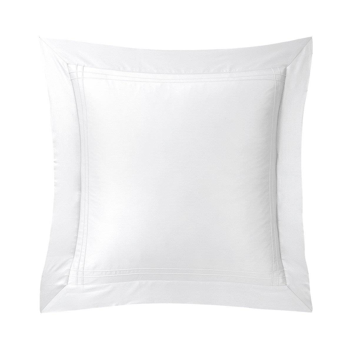 Adagio Blanc Bedding Collection by Yves Delorme | Fig Linens - white, cotton, luxury euro sham
