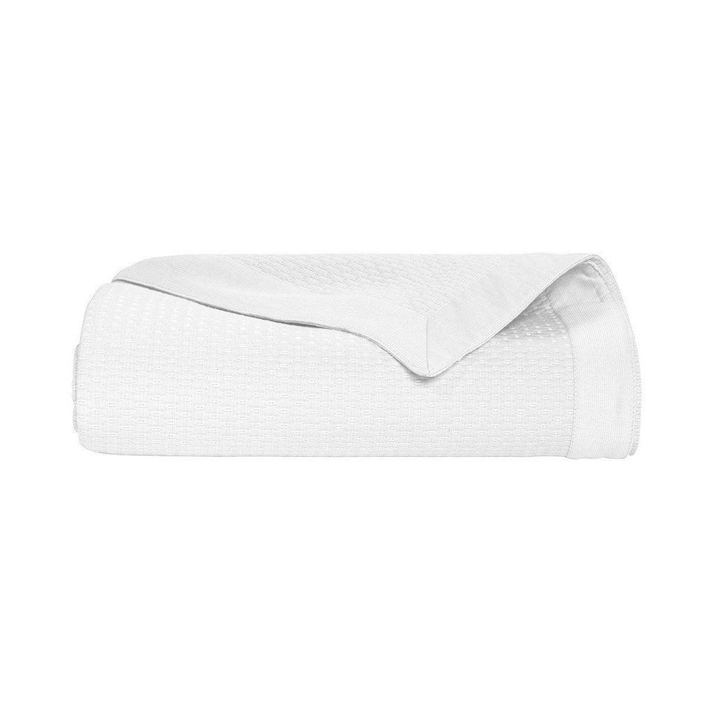 Morphée Blanc Coverlet by Yves Delorme | Fig Linens - White, cotton, king, queen coverlet