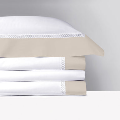 Walton Pierre Bedding Collection by Yves Delorme | Fig Linens - White, taupe bed linens, sheets