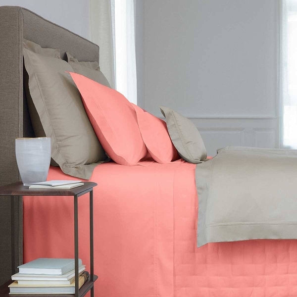Triomphe Peche Peach Bedding by Yves Delorme - Sheets, Shams, Duvets, Quilts | Fig Linens