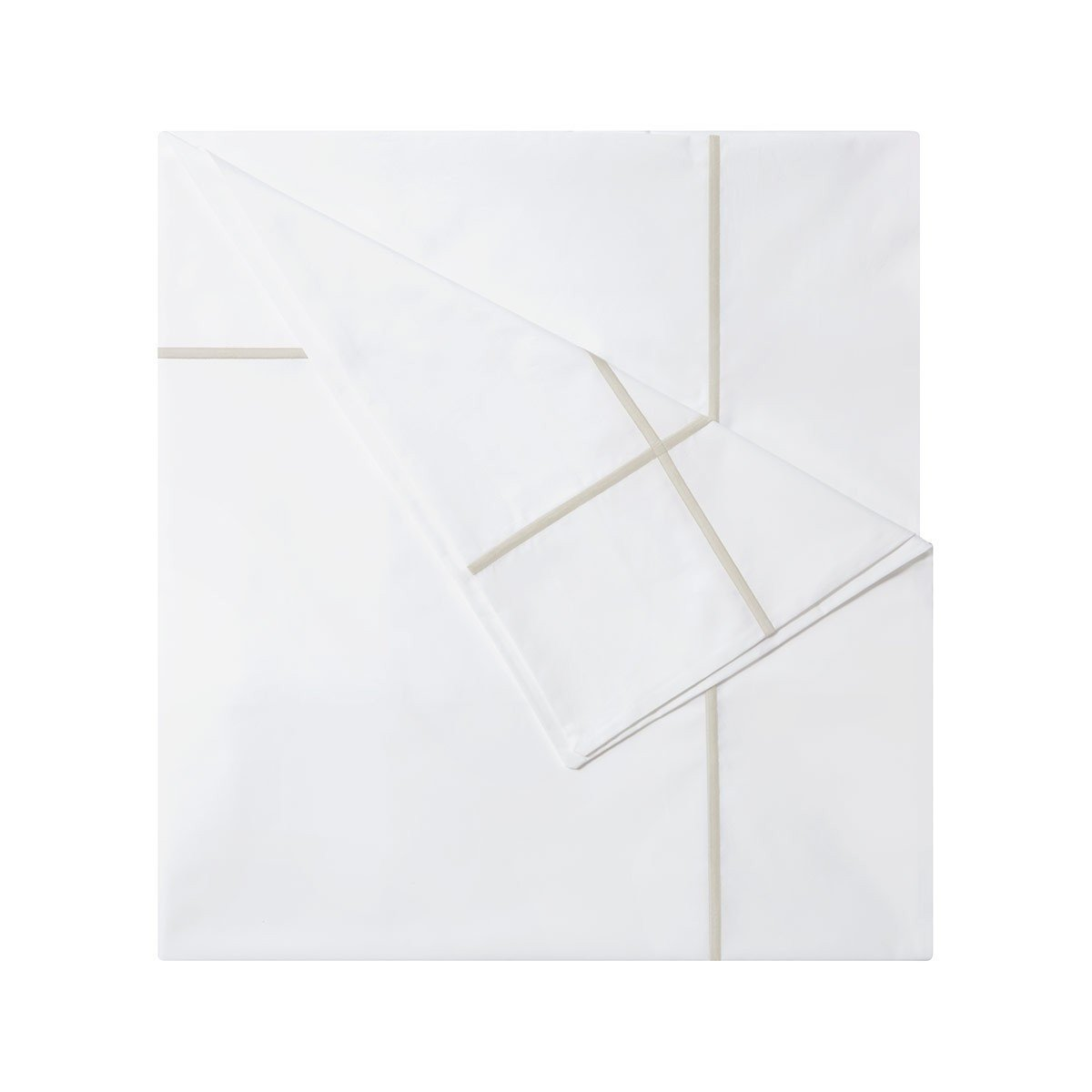 Athena Nacre Bedding Collection by Yves Delorme | Fig Linens - White and ivory duvet cover