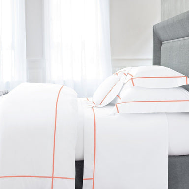 Athena Peche Bedding Collection by Yves Delorme | Fig Linens - White bed linens