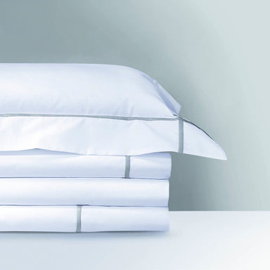 Athena Platine Bedding Collection by Yves Delorme | Fig Linens - White, cotton, duvet, sheet, sham