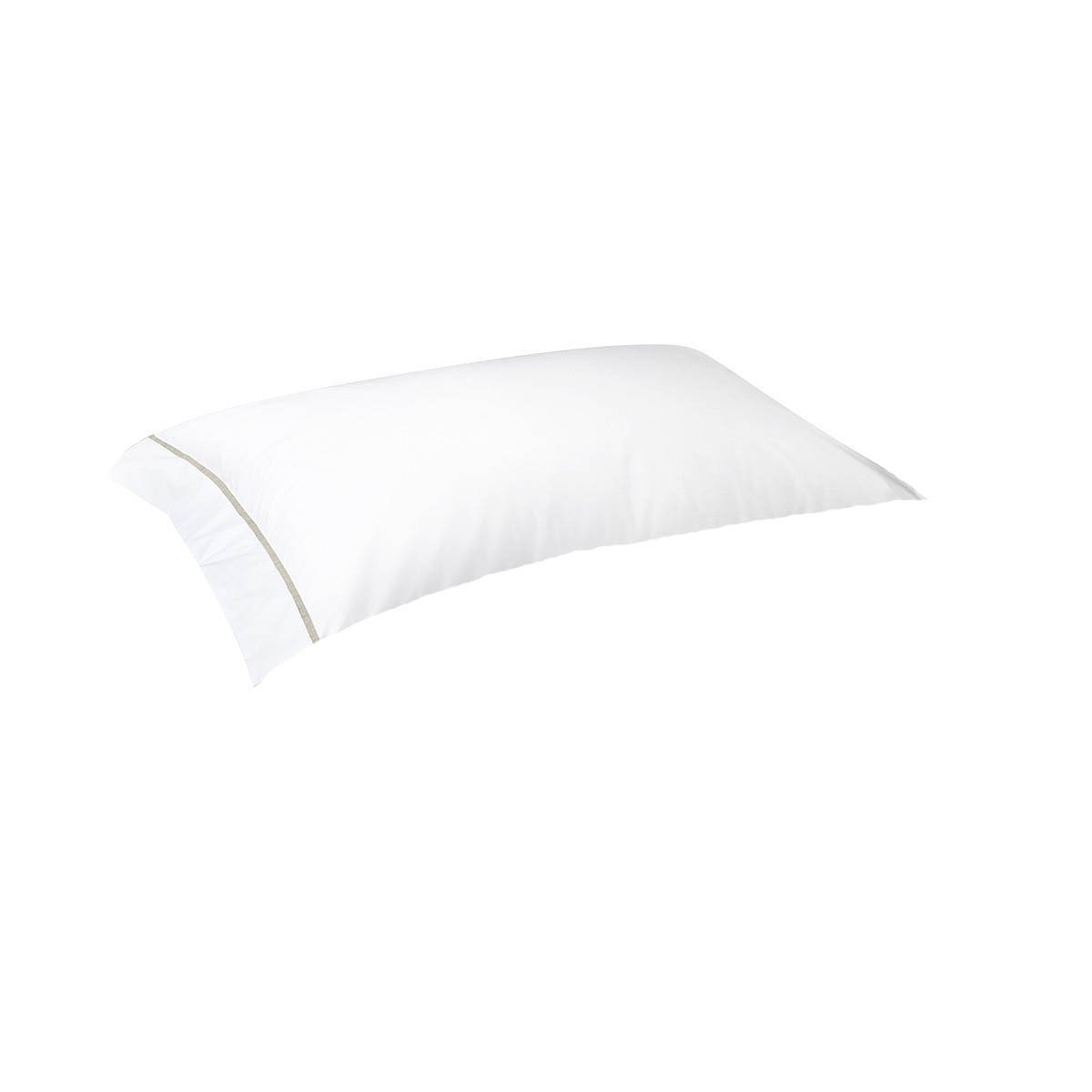 Athena Nacre Bedding Collection by Yves Delorme | Fig Linens - White and ivory pillowcase