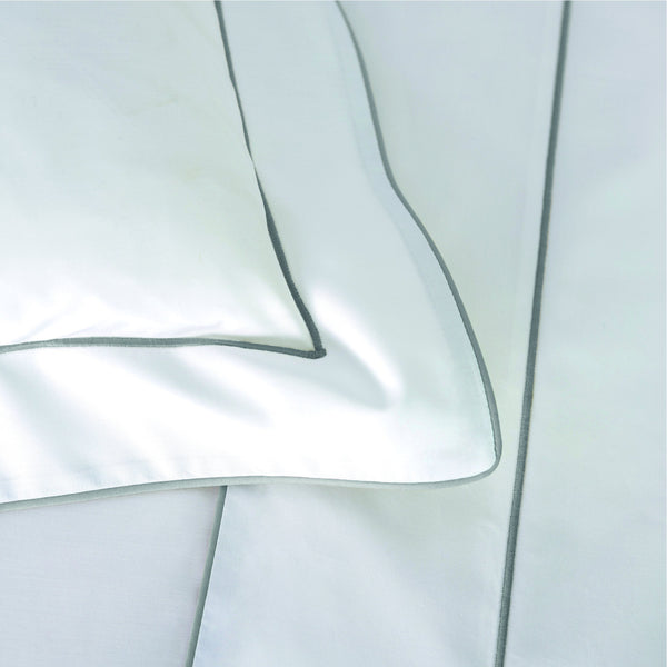 Flandre Platine Bedding by Yves Delorme | Fig Linens - White, Cotton, Duvet covers, Sheets, Shams