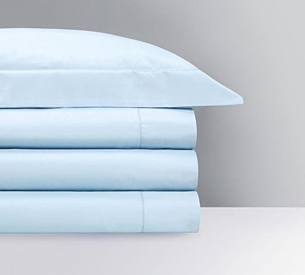 Roma Opalia Bedding by Yves Delorme | Fig Linens - Pastel blue bedding, duvet, sheets, shams