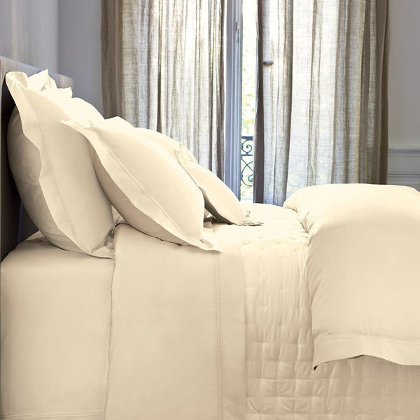 Triomphe Nacre Ivory Bedding by Yves Delorme | Sheets, Quilts, Duvets | Fig Linens