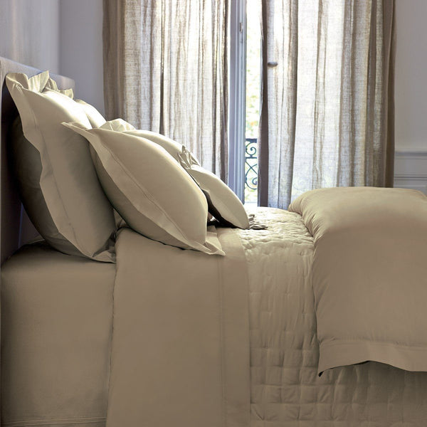 Triomphe Pierre Stone Bedding by Yves Delorme | Sheets, Quilts, Duvets - Fig Linens