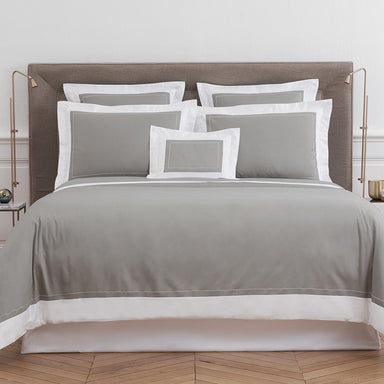 Ucetia Platine Bedding Collection by Yves Delorme - Fig Linens, Gray bed linens, cotton, duvet cover