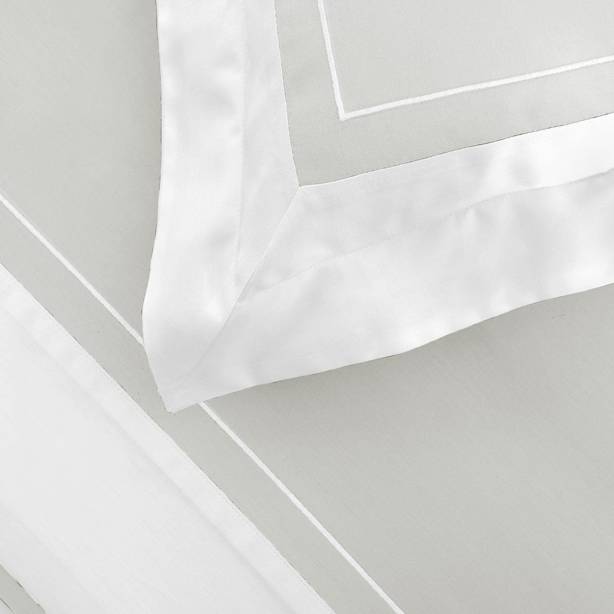 Ucetia Silver Bedding by Yves Delorme | Fig Linens, Light gray bed linens