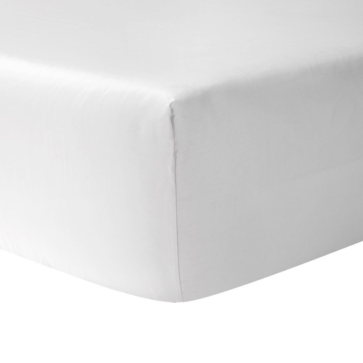Adagio Blanc Bedding Collection by Yves Delorme | Fig Linens - White, cotton, luxury fitted sheet